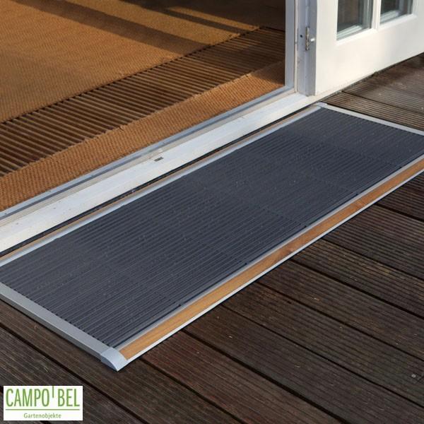 Fußmatten Für Draußen fußmatte teak silber in 2 größen cobel