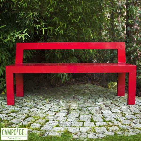rote bank aus aluminium campobel